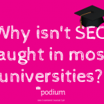 Why isn't SEO taught