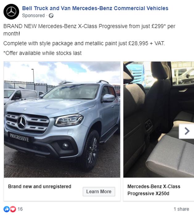 Bell Truck & Van Facebook Ad